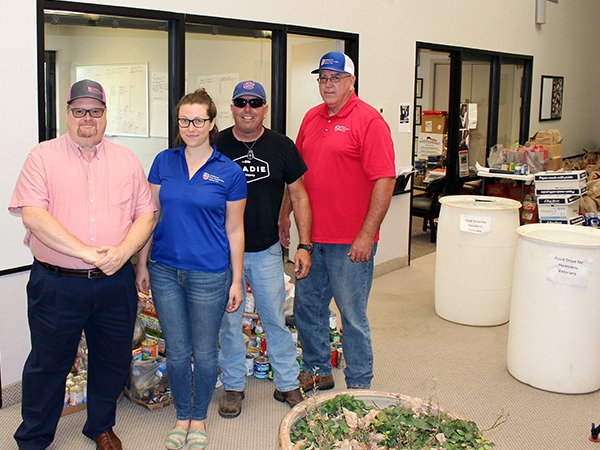 AFPG Monroe Donates Barrels of Food to Help Feed Veterans